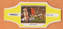 1974 World Cup Cigar Band West Germany Gerd Muller (Yellow)
